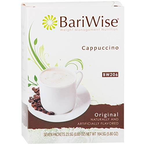 BariWise High Protein Powder Hot Drink/Instant Low-Carb Cappuccino Mix (15g Protein) – Original (7 Servings/Box) - Low Calorie, Low Carb, Low Fat, Aspartame Free - 3 Box Value Pack (Save 10%)