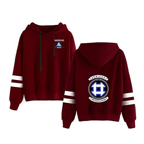 Haililais Detroit Become Human Sweat-Shirts Pulls imprimés colorés Pulls à Capuche Respirants Sweat-Shirts à Motifs Pull à Manches Longues Unisex (Color : Red02, Size : S)