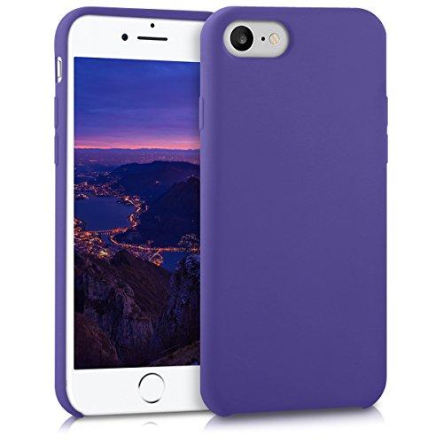 kwmobile Cover Compatibile con Apple iPhone 7/8 / SE (2020) - Custodia in Silicone TPU - Back Case Protezione Cellulare Viola