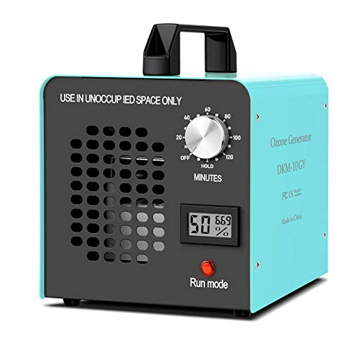 DONGQIMI Generador de Ozono 10.000 MG/h, Purificador Ozono de Aire Ozonizadores Eliminación de Olores, bacterias, ácaros, Virus, etc