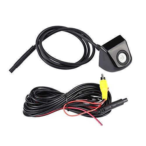 Cámara de visión trasera impermeable IP68 con visión nocturna, cámara de visión trasera de coche de alta definición, ángulo de visión amplio para minivan(black)