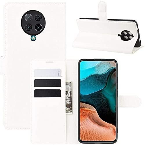 Lapinette Hülle Kompatibel mit Xiaomi Poco F2 Pro - Schutzhülle Klappbar Stoßfeste Folio - Lederhülle Xiaomi Poco F2 Pro - Wallet Kartenfächer Standfunktion Magnet Weiß