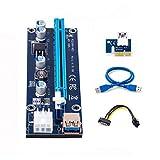 ELIATER PCI-E 1X to 16X 延長ケーブル 0.6m GPUライザーアダプターBitcoin-Litecoin-ETHコイン採掘用(Ver 009S 最新)