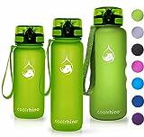 coolrhino Trinkflasche 1,5l für Sport, Outdoor, Schule, Fitness & Kinder - Wasserflasche auslaufsicher und Bpa frei - Flasche für Kohlensäure geeignet (Rhino Yellow, 1500ml)