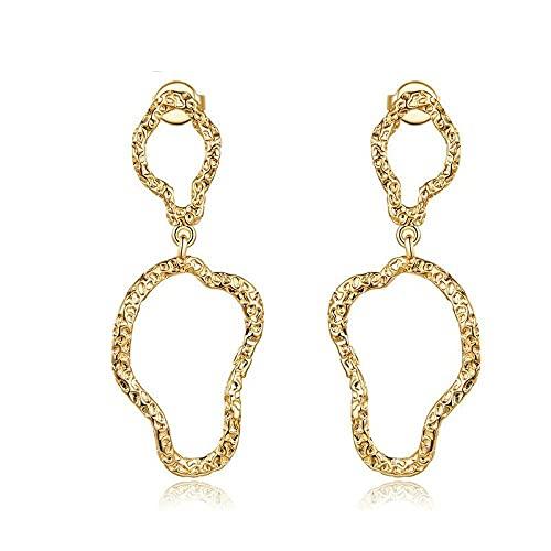 LIUBAOBEI Boucles D'Oreilles Pour Femmes,Boucles D'Oreilles Pendantes Champagne Minimaliste Bijoux De Mode Féminine