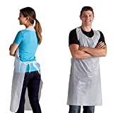 Disposable Poly Aprons 1000 pack Plastic Apron 28 X 46 inches Large White Protective Apron for Commercial or Household Use - Throw Away for Hair Salon Spa or Art Studio