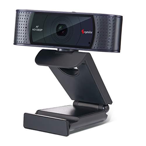 Angetube Cámara Web con Micrófono Transmisión de Video 1080P/Chat Grabación Base Giratoria de 360 Grados para Win10 Macbook Skype Xbox One Mixer Facebook