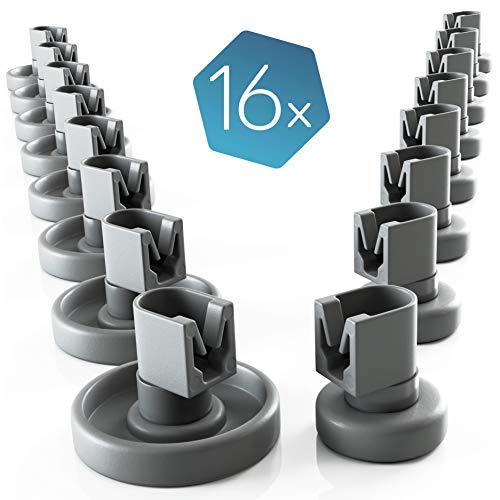 Set di rotelle lavastoviglie cestello Plemont [cesto superiore / inferiore] - rotelle lavastoviglie rex electrolux - universale adatte a molte cestello lavastoviglie - ricambi lavastoviglie rex