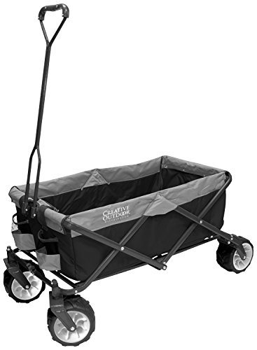 Creative Outdoor Distributor 900210-Grey All-Terrain Folding Wagon, Gray