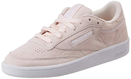 Reebok Damen Club C 85 Trim NBK Tennisschuhe, Rosa Weiß Grau (Pale Pink White Powder Grey 000), 36 EU