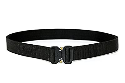 XTAC Wolf Tactical Heavy Duty Quick-Release EDC Belt - Stiffened 2-Ply Nylon Gun Belt for Concealed Carry CCW Holsters Pouches Military Combat Duty Wilderness Hunting Survival