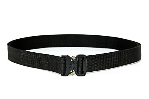 WOLF TACTICAL Heavy Duty Quick-Release EDC Belt - Stiffened 2-Ply Nylon Gun Belt for Concealed Carry, Holsters, Military Training, Survival