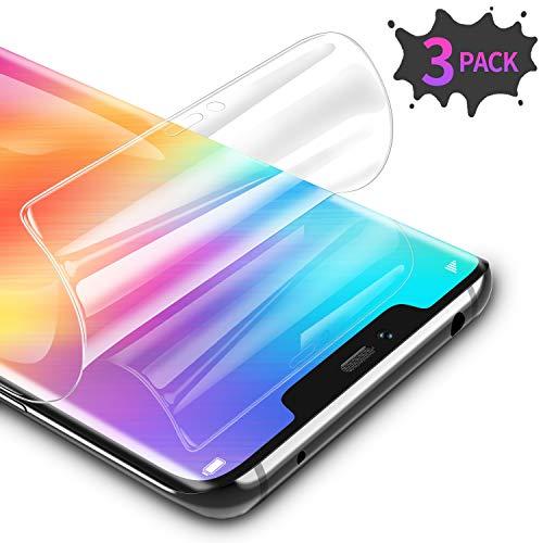 [3 Stück Schutzfolie für Huawei Mate 30 Pro, Ultra Dünn Weiche TPU Displayschutzfolie (Nicht Panzerglas), HD Klar Displayschutz Folie Full Screen für Huawei Mate 30 Pro [Transparent]
