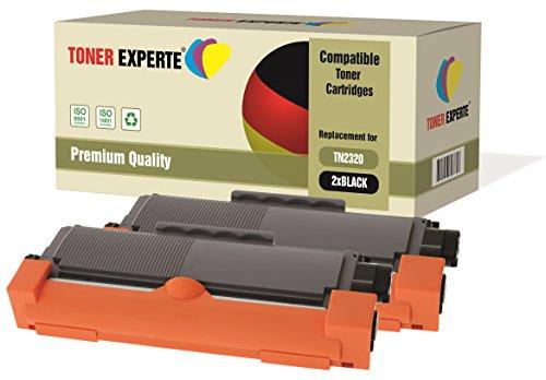 Kit 2 TONER EXPERTE® TN2320 Toner compatibili per Brother HL-L2300D HL-L2320D HL-L2340DW HL-L2360DN HL-L2360DW HL-L2365DW DCP-L2500D DCP-L2520DW DCP-L2540DN MFC-L2700DW MFC-L2720DW MFC-L2740DW