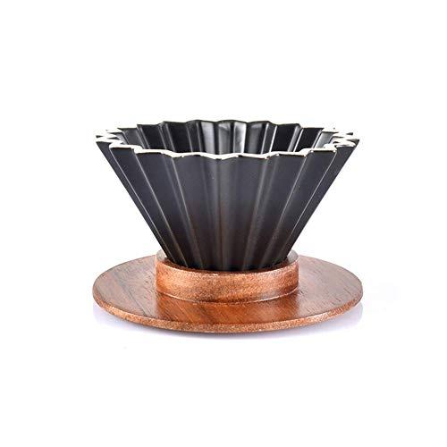 gongxi Handgemachte Kaffee Filter Tasse Origami Filter Tasse Übergießen Dripper, Espresso-Kaffee-Filtertasse, Keramik Übergießen Kaffeemaschine Mit Holzständer, Kaffee Zubehör