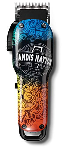 Andis 73045 Cordless Envy Lithium Ion Andis Nation Adjustable Blade Clipper, Graffiti