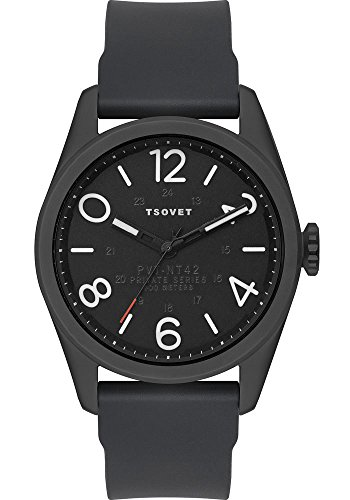 Tsovet Watch Black Face with White Letters/black Strap Jpt-nt-42 Nt 331040-45