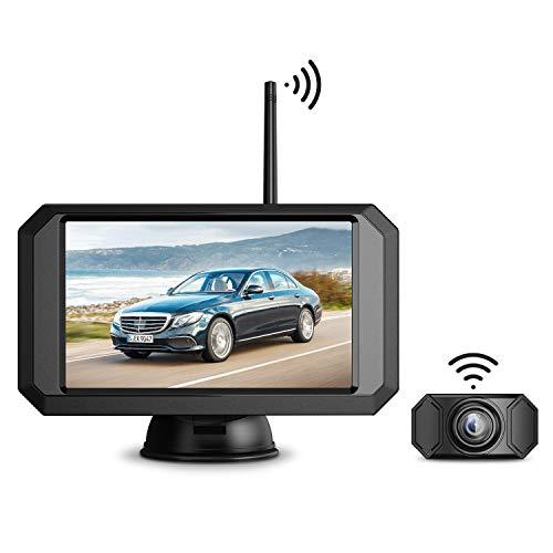 "Wireless Backup Camera Kit, Esky Waterproof Rear View Camera & 5"" 720P TFT Monitor, Stable Signal Transmission, Adjustable Grid Lines, Ideal for Sedans/Pickup Trucks/SUVs/Sport Cars"