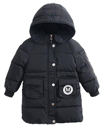 Roffatide Kinderjas, warm, dik donsjack met capuchon, windjas, ski-jack, meisjes, jongens, winters