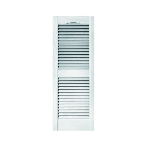 Builders Edge Standard Size Cathedral Open Louver Shutters, W/Installation Shutter-Lok S (per Coppia) 14 1/2