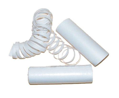 Rouleaux de Serpentins 4M Blanc Lumière Noire - Taille Unique