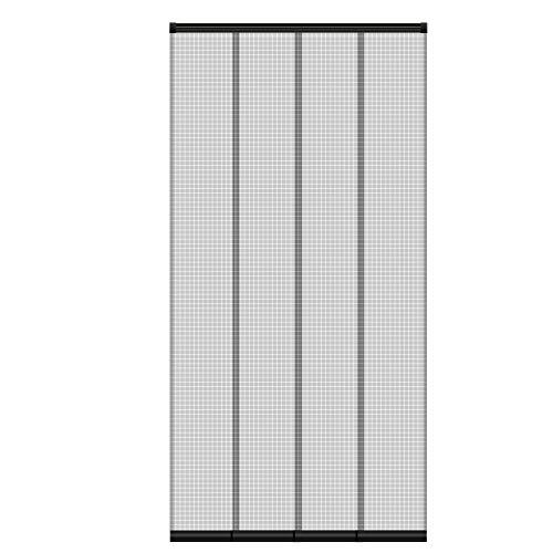 ECD Germany Insektenschutz Lamellenvorhang Türvorhang für Türen - 100x220 cm - individuell kürzbar - 4-teiliger Vorhang - mit randverstärkten Fiberglas-Lamellen - Fliegengitter Insektenschutz Vorhang