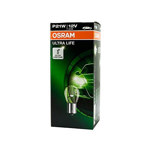 10x Osram Glühbirnen Ultra Life 12v 21w Ba15s Nebelschlusslicht Bremslicht