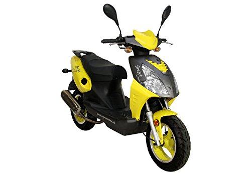 Roller Firejet 50 One Mokick gelb 1,8 KW / 2,4 PS / Luftgekühlt / Alufelgen / Gepäckträger / Scheibenbremse / Teleskopgabel Hydraulisch / ab 16 Jahren