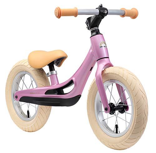 BIKESTAR Magnesium (superleicht) Kinderlaufrad Lauflernrad Kinderrad für Jungen und Mädchen ab 3 - 4 Jahre   12 Zoll Kinder Laufrad Cruiser Ultraleicht   Pink   Risikofrei Testen
