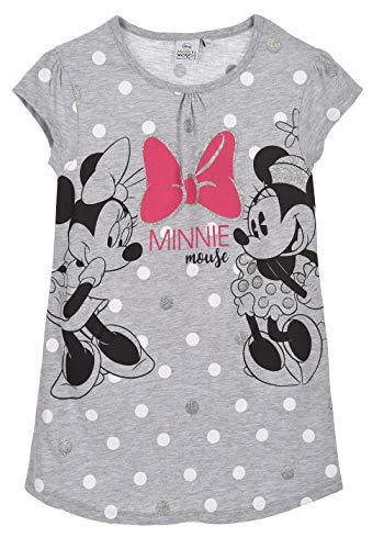 Nachthemd, bedruckt, für Kinder, Mädchen, Minnie Maus, Grau, 3 bis 8 Jahre Gr. 3 Jahre, grau