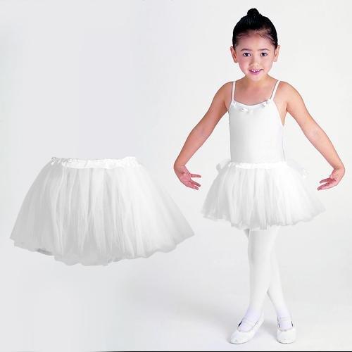 fitTek® Tutu/Falda De Tul Blanco Bailarina Baile Danza Ballet ...