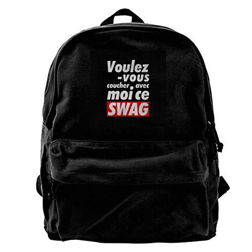 Canvas Rucksack Ce Swag Rucksack Gym Wandern Laptop Umhängetasche Daypack für Männer Frauen