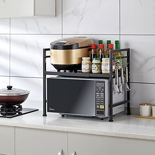Estante para horno de microondas, estante para horno y horno.