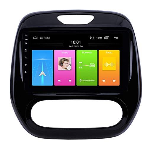 Android Autoradio Radio Double DIN Sat Nav para Renault Kaptur 2011-2016 Navegación GPS 2.5D Pantalla Táctil Reproductor Multimedia FM Am DVD Video Receiver(Size:WiFi 2G+32G,Color:B)