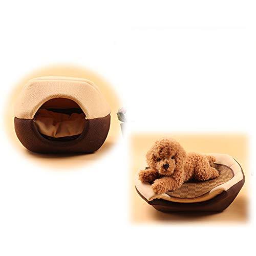 Afneembare hoes Hondenbed Huis Yurts Kattenhuis Slaapbank Mat Opvouwbaar Winterverwarmend Teddy Puppy Small Medium Hondenkennels