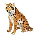 Grande sentado diseño de tigre Wild Animal figura resina 44x 42cm