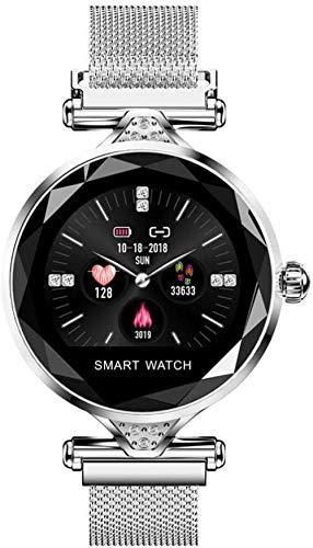 Reloj inteligente para mujer con dispositivo Bluetooth, podómetro, monitor de frecuencia cardíaca, para Android y iOS Smart Bracelet-B.