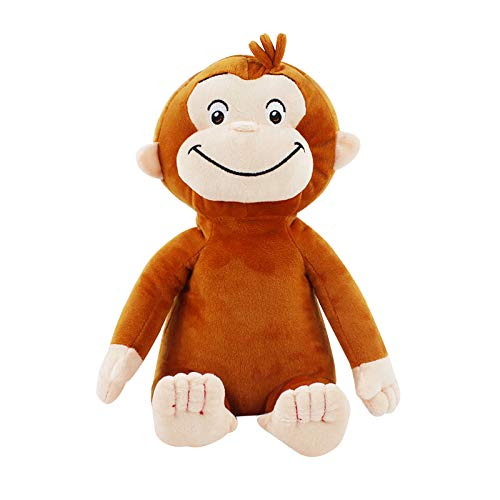 YDGHD 30cm 4 Style Curious George Plush Doll Boots Monkey Plush Stuffed Animal Toys for Boys and Girls D
