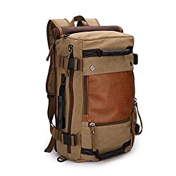 This canvas rucksack by Ibagbar is a stylish choice for somone looking for something a little different from the normal hiking backpack