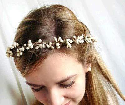Simsly Boho Corona de flores de boda guirnalda Diadema Floral Accesorios para el pelo para mujeres y niñas