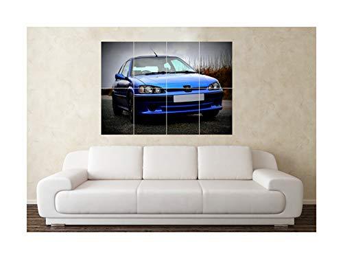 Grote Peugeot 106 GTI gemodificeerde sport auto muur poster kunst foto afdrukken Kerstmis verjaardag cadeau