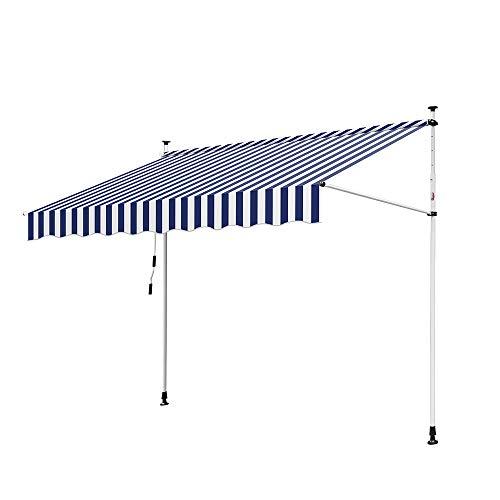 Hengda Toldo articulado con armazón 250 * 120cm Toldo Extensible Enrollable terraza balcón