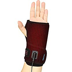 Hand & Wrist Heating Pad Wraps, Auto Shut Off Therapy Electric Heated Brace for Carpal Tunnel Syndrome, Arthritis, Tendonitis, Joint Pain Soreness