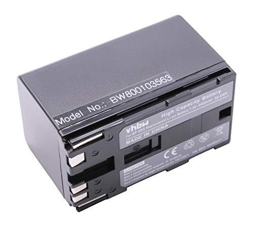 vhbw Li-Ion Akku 4400mAh (7.4 V) für Kamera, Video Canon EOS C100, C300, C300 PL, C500, C500 PL, XF100, XF105, XF300, XF305 wie BP-955, BP-975.
