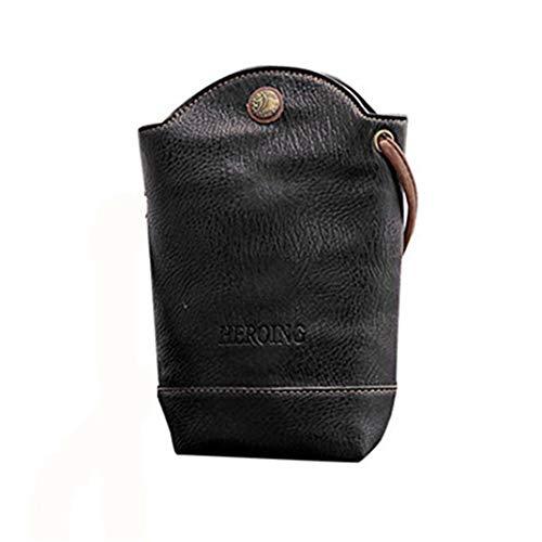 Damentasche Spriteman Frauen Mode Messenger Bags Schlank Crossbody Schultertaschen Handtasche Kleine Körper Taschen Umhängetasche businesstasche Sporttasche (Schwarz)