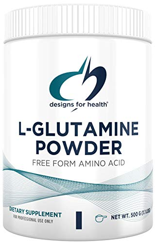 Designs for Health L Glutamine Powder - 3000mg Amino Acids Supplement to Support Muscle Recovery, Digestive, Immune + Gut Health - Non-GMO + Gluten Free Easy Drink Mix (166 Servings / 500g)