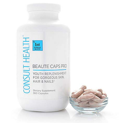 Consult Health Beaute Caps PRO for Youthful Skin, Hair & Nails-180 Day
