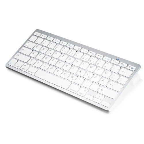 Wireless Bluetooth Tastatur/Keyboard im Slim Design   Bluetooth V 3.0   Apple und PC   Windows 7 + 8 / Linux/Mac OS X   Notebook/Laptop/Netbook/Mac Book   Tablets/Apple iPad