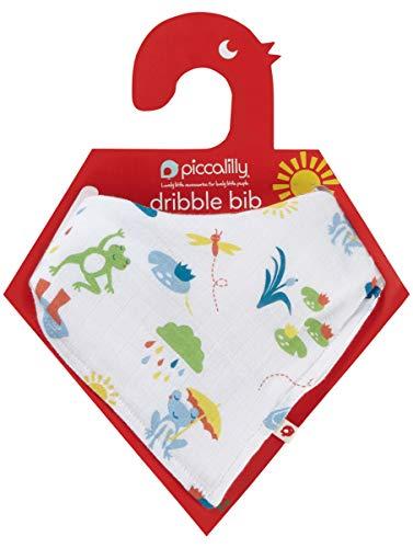 Piccalilly Jumping Frog Bandana et Bavoir, Multicolore, Taille Unique Mixte bébé