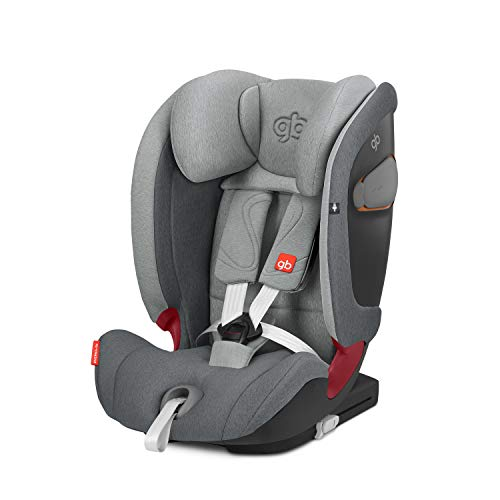 GB Gold Everna-Fix - Silla de coche para coches con ISOFIX, Grupo 1/2/3 (9-36 kg, De 9 meses a 12 años aprox.) London Grey